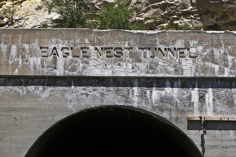 West Portal of Eagles Nest Tunnel along the Milwaukee Road in Sixteen Mile Canyon, Montana