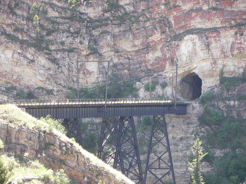 Sixteen Mile Canyon Montana.  Eagles Nest tunnel deep in the canyon.  Former Milwaukee Road mainline.